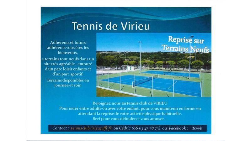 Tennis : reprise sur terrains neufs et adhésions spéciales