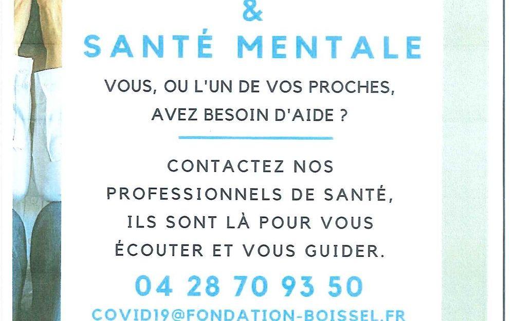 Confinement & Santé Mentale : Vous, ou l'un de vos proches, avez besoin d'aide?