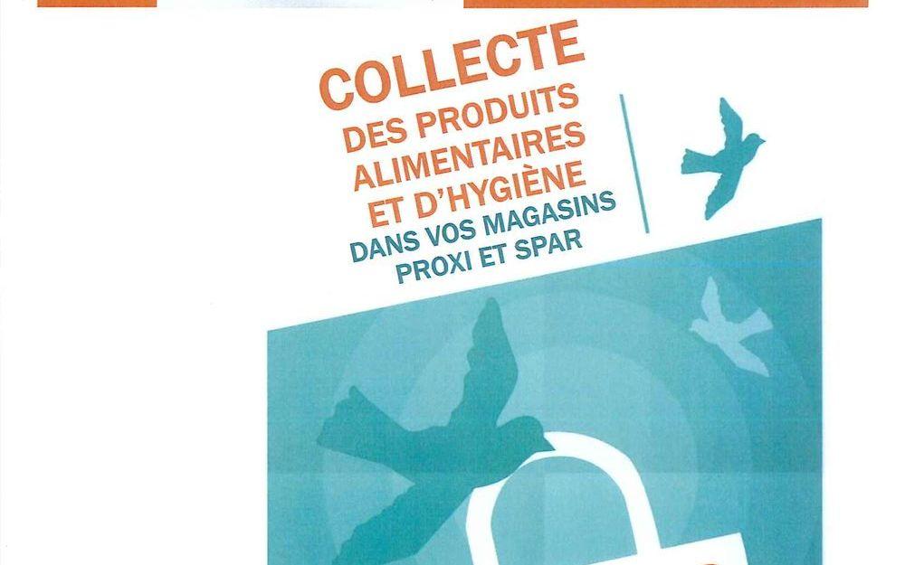 Collecte des produits alimentaires et d'hygiène dans vos magasins PROXI et SPAR