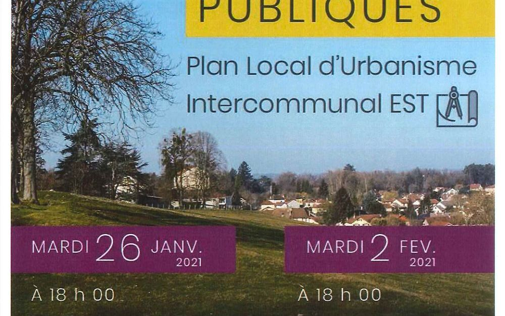Réunion Publique Plan Local d'Urbanisme Intercommunal EST : REUNION A DISTANCE