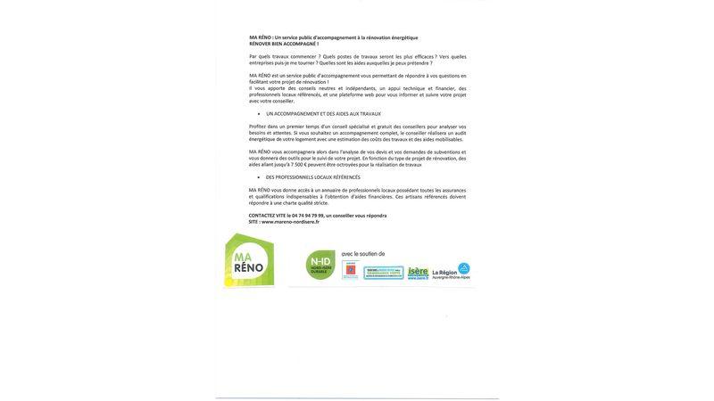 MA RENO : un service public d'accompagnement à la rénovation énergétique RENOVER BIEN ACCOMPAGNE !