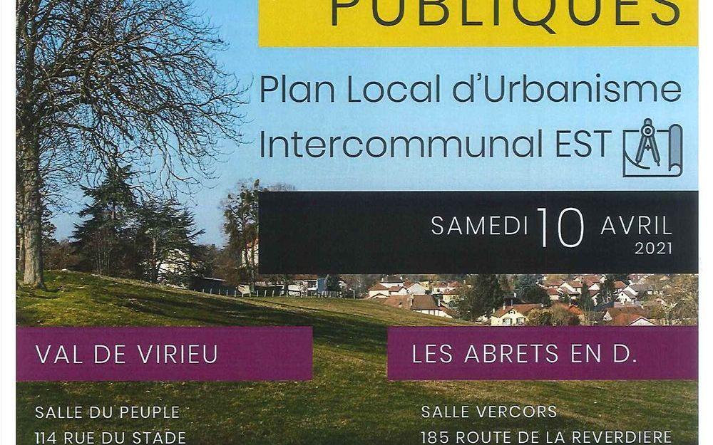 Réunion Publique Plan Local d'Urbanisme Intercommunal EST