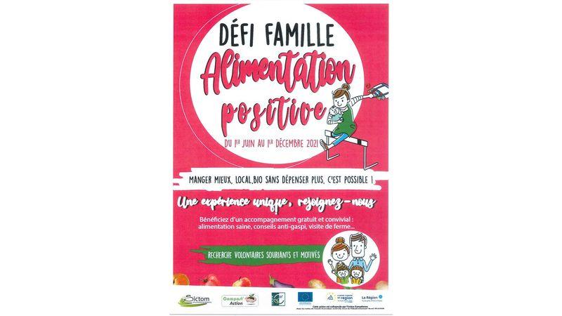 DEFI FAMILLE - Alimentation positive