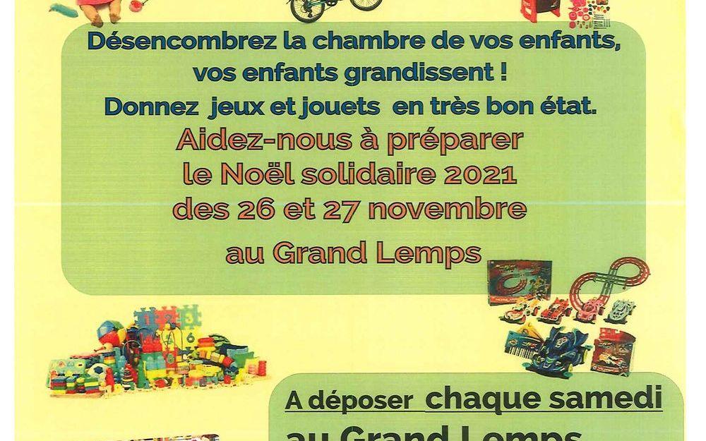 Collecte 2021 de jouets de Noël