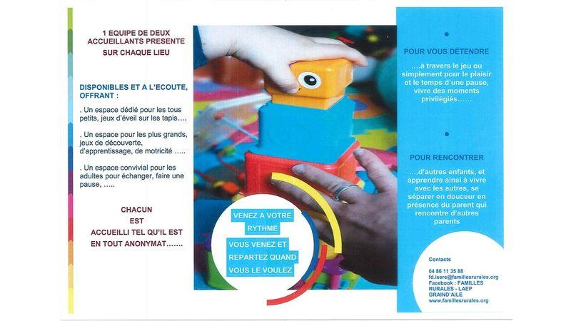 Lieu d'accueil enfants parents : Grain d'aile vous accueille...