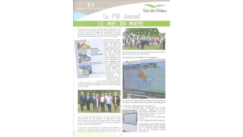 Le P'tit Journal n°9 - Octobre-Novembre-Décembre 2021