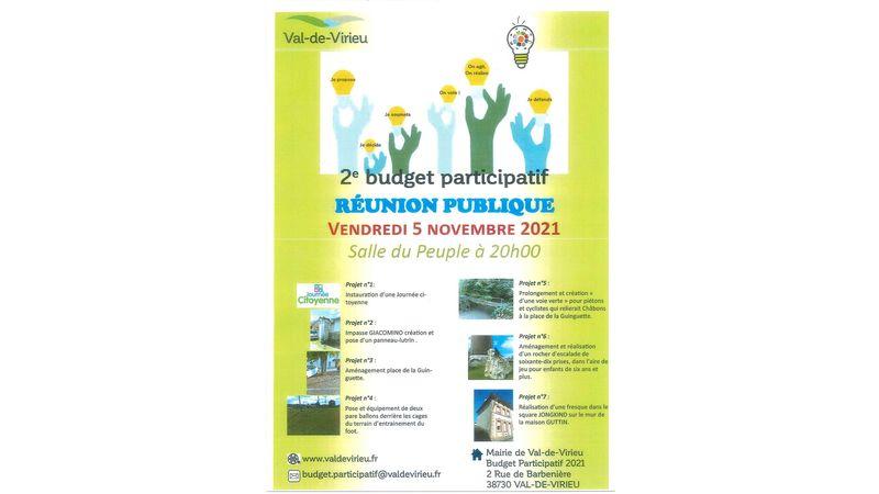 2ème Budget participatif - Réunion Publique